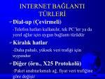 internet ba lanti t rler