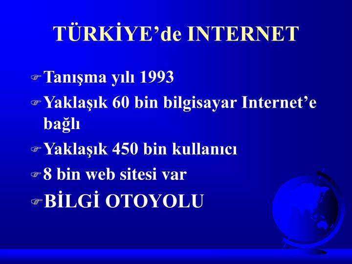 TÜRKİYE'de INTERNET