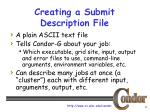 creating a submit description file