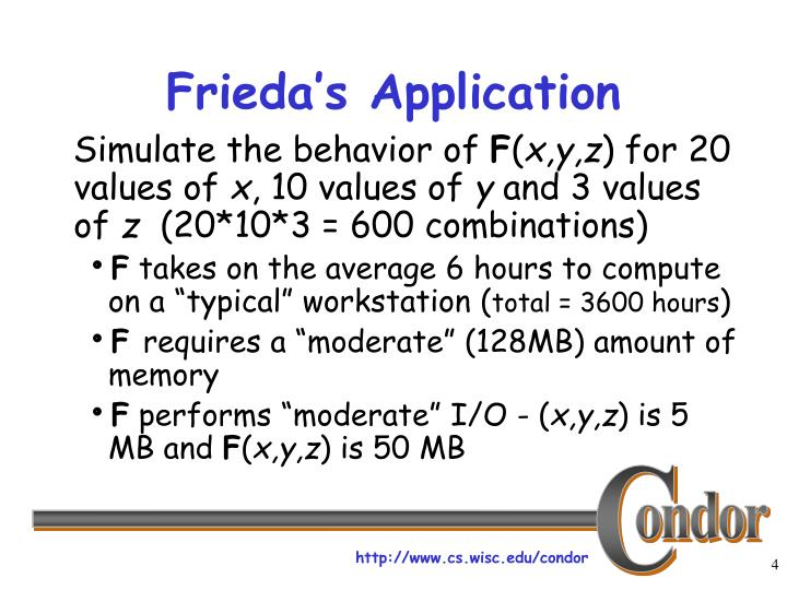 Frieda's Application