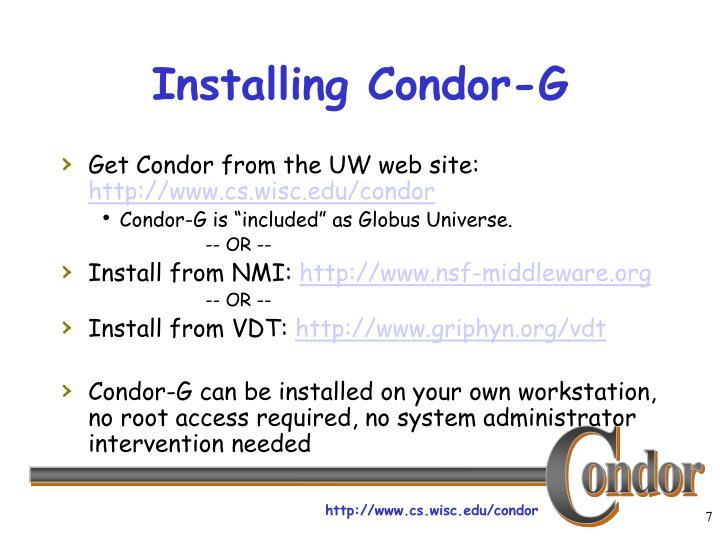 Installing Condor-G