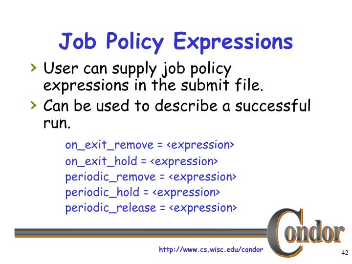Job Policy Expressions