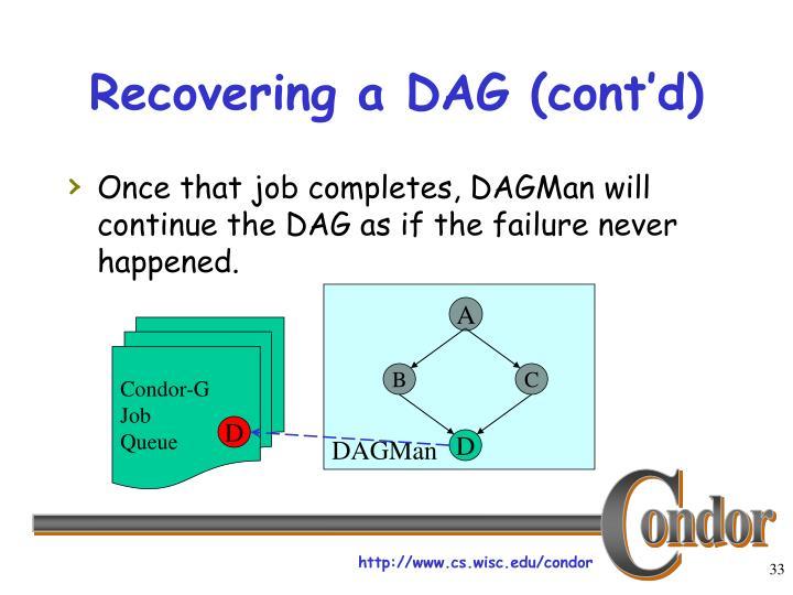 Recovering a DAG (cont'd)