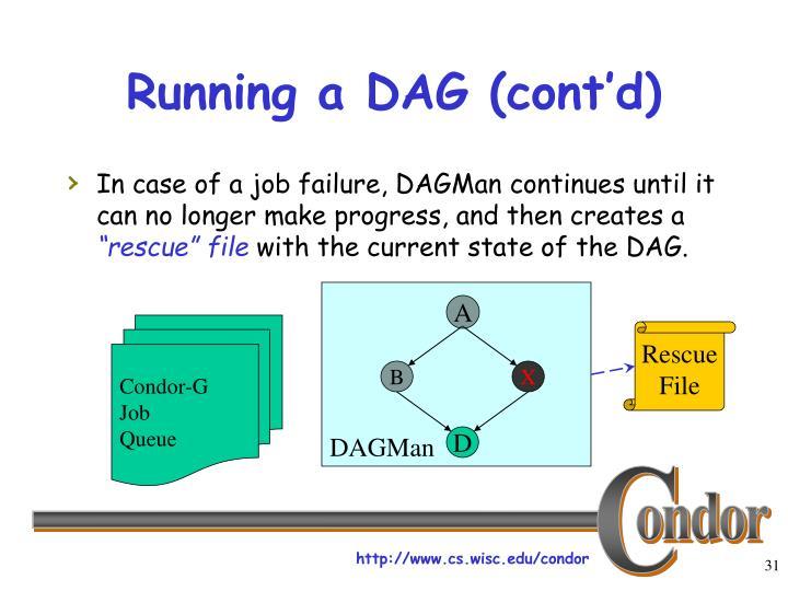 Running a DAG (cont'd)