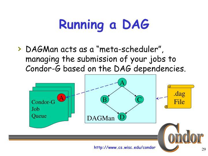 Running a DAG