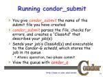 running condor submit