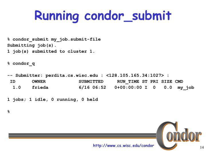 Running condor_submit