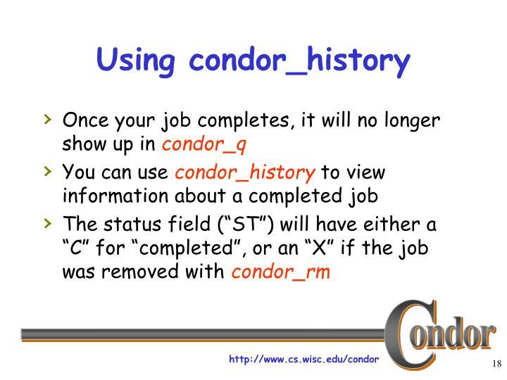 Using condor_history