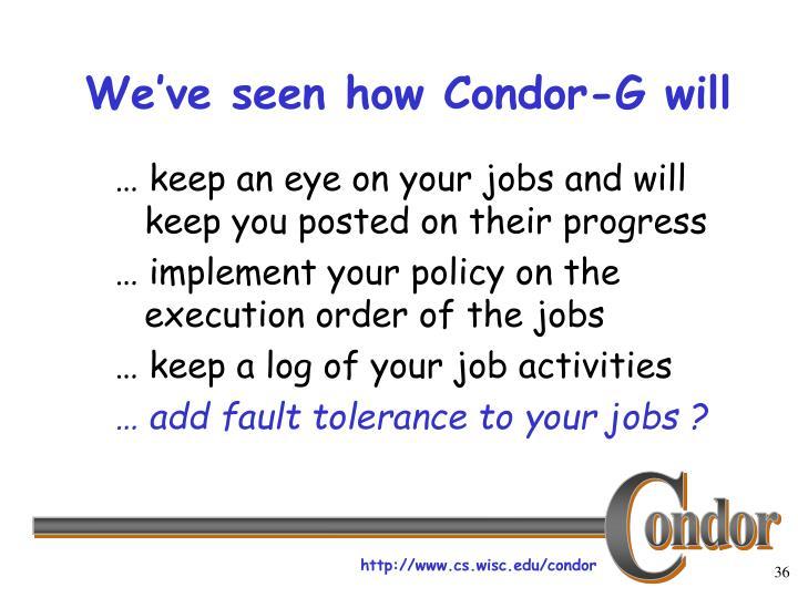 We've seen how Condor-G will