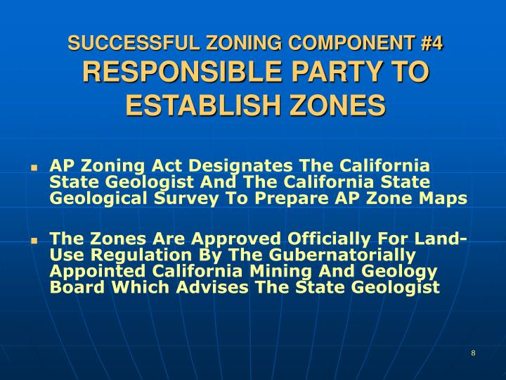 SUCCESSFUL ZONING COMPONENT #4