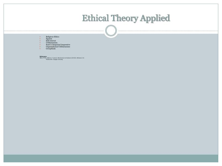 Ethical Theory Applied