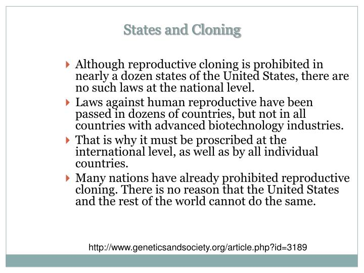 States and Cloning