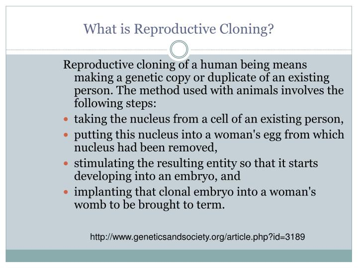 What is Reproductive Cloning?