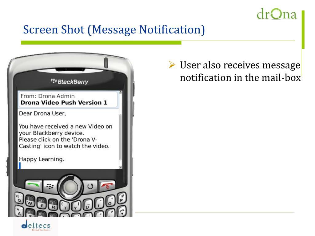Screen Shot (Message Notification)