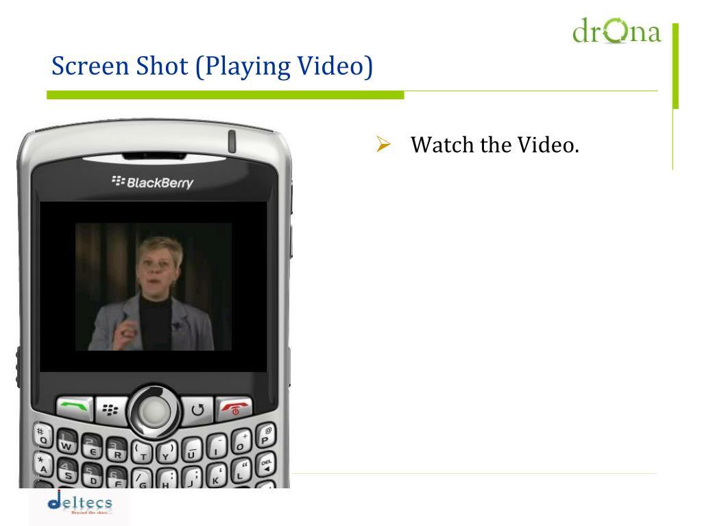 Screen Shot (Playing Video)