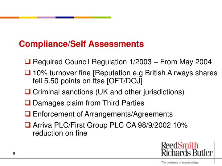 Compliance/Self Assessments