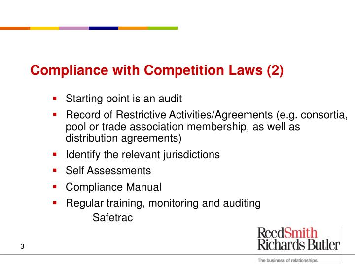 Compliance with Competition Laws (2)