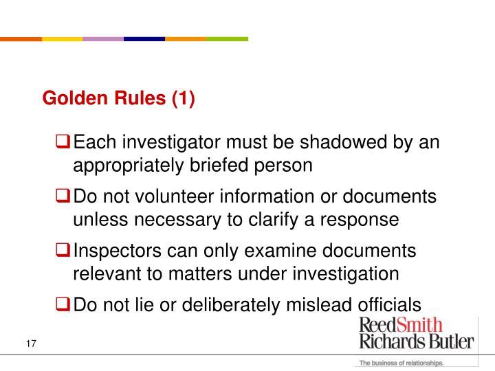 Golden Rules (1)