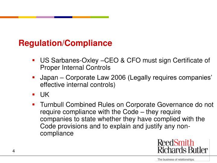 Regulation/Compliance