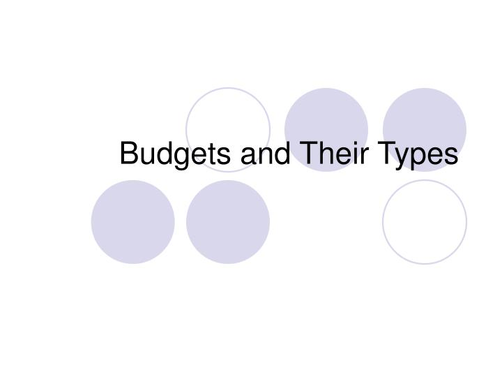 Budgets and Their Types