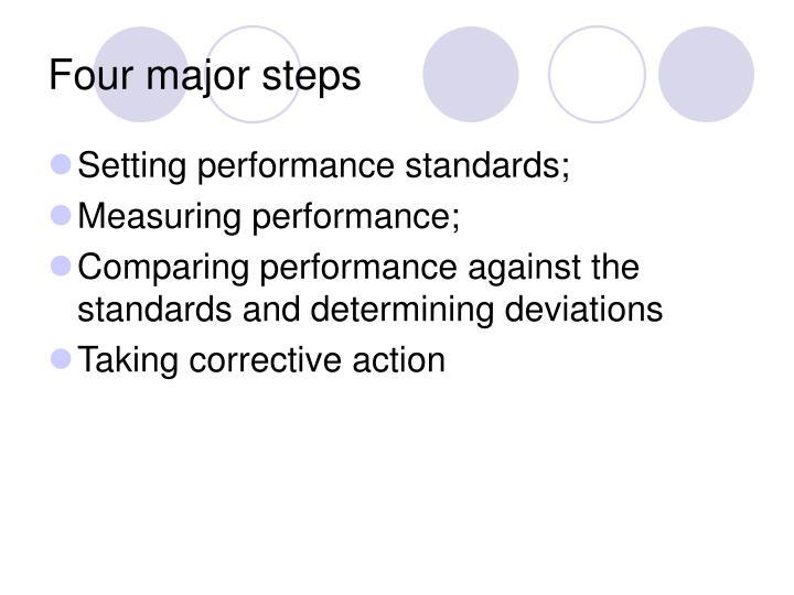 Four major steps