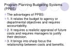 program planning budgeting systems ppbs2