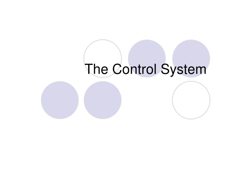 the control system