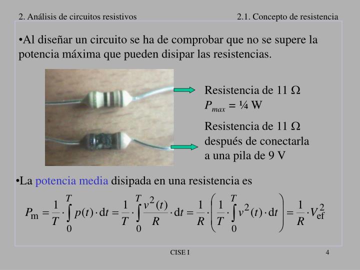Resistencia de 11