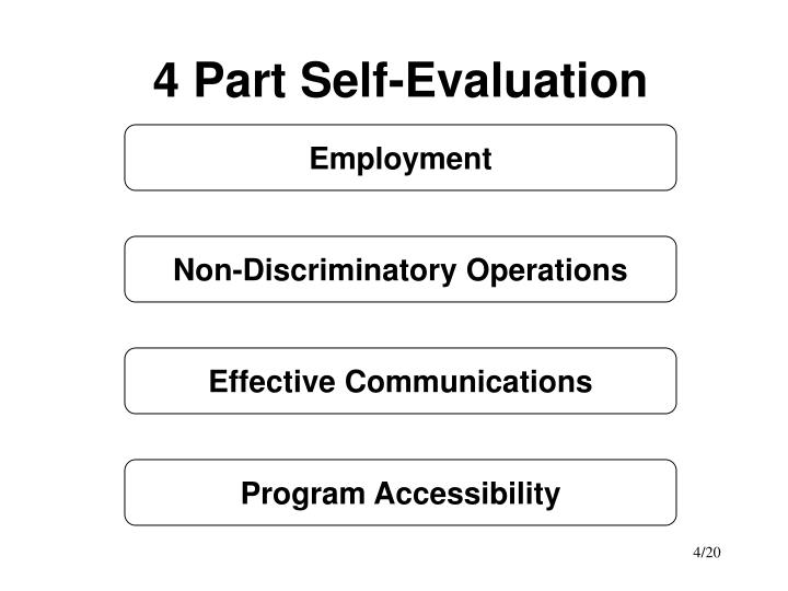 4 Part Self-Evaluation