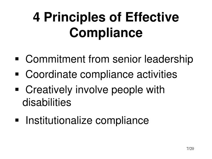 4 Principles of Effective Compliance