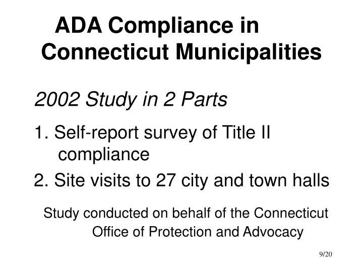 ADA Compliance in Connecticut Municipalities
