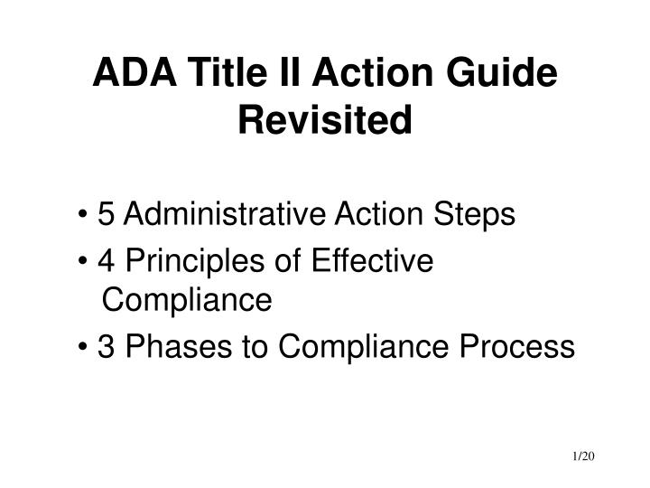 ada title ii action guide revisited