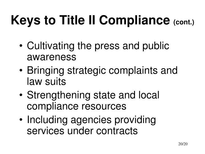 Keys to Title II Compliance