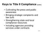 keys to title ii compliance cont