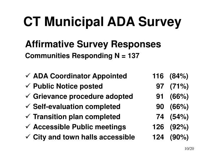 CT Municipal ADA Survey