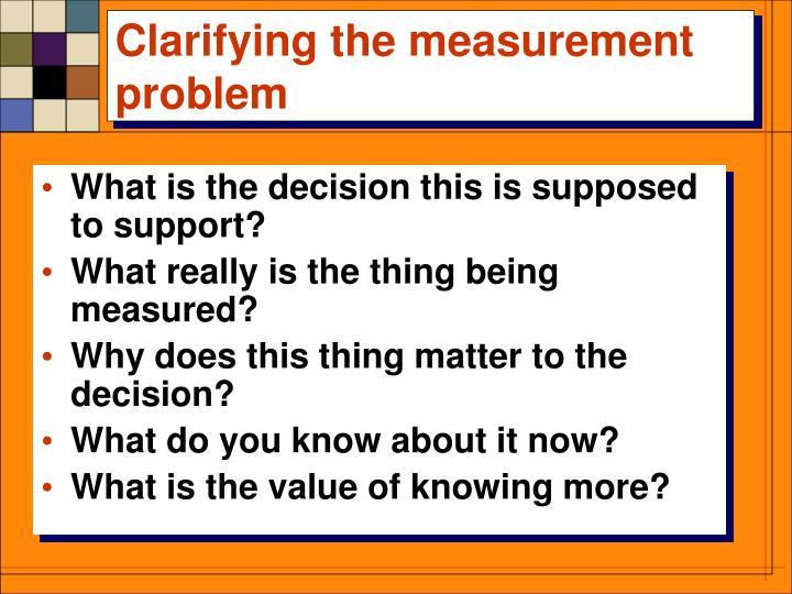 Clarifying the measurement problem