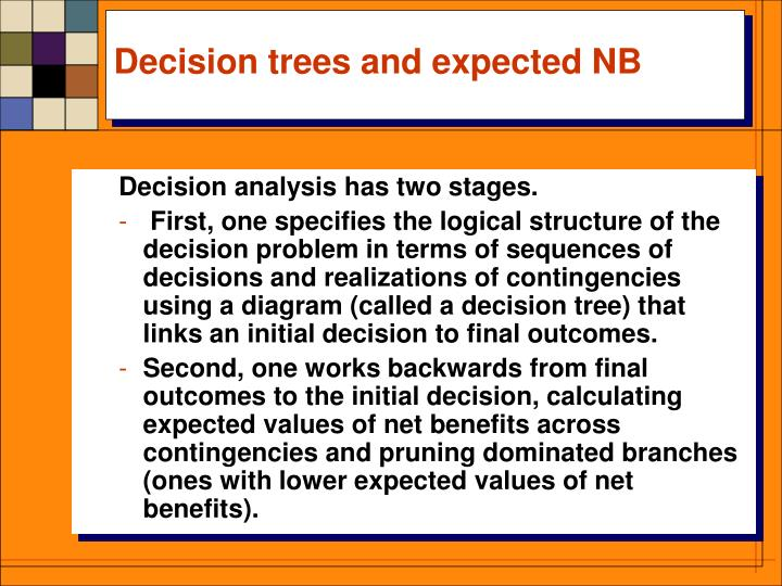 Decision trees and expected NB