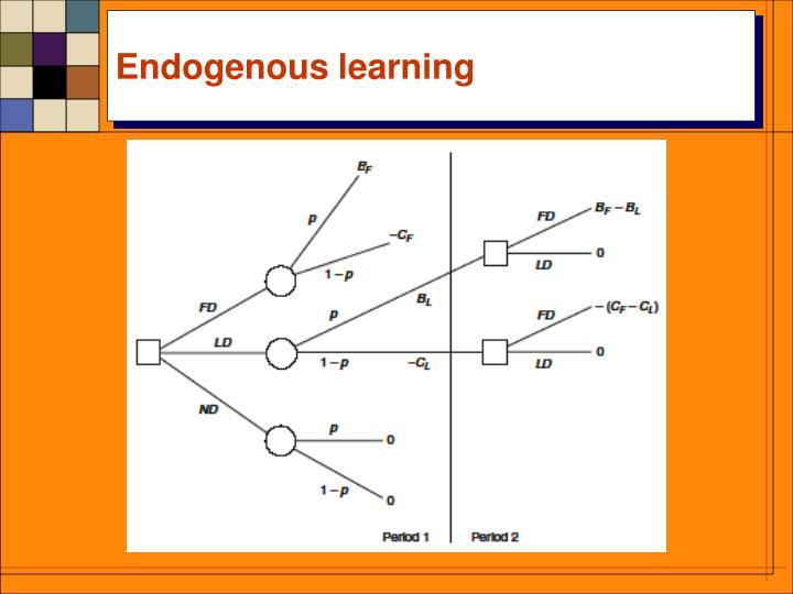 Endogenous learning