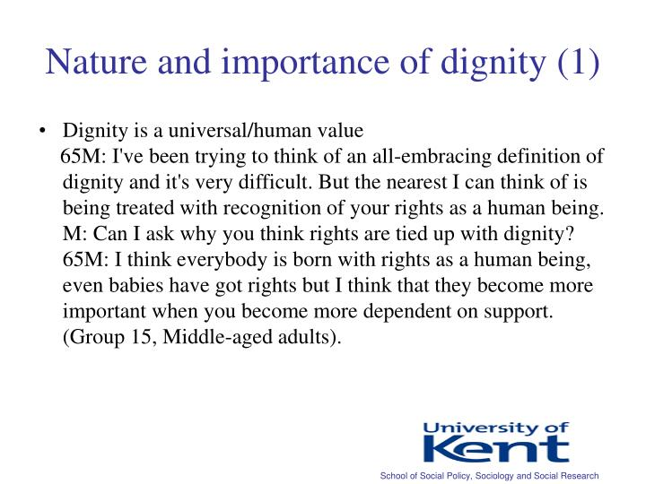 Nature and importance of dignity (1)