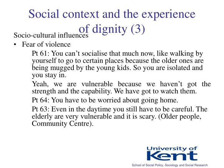 Social context and the experience