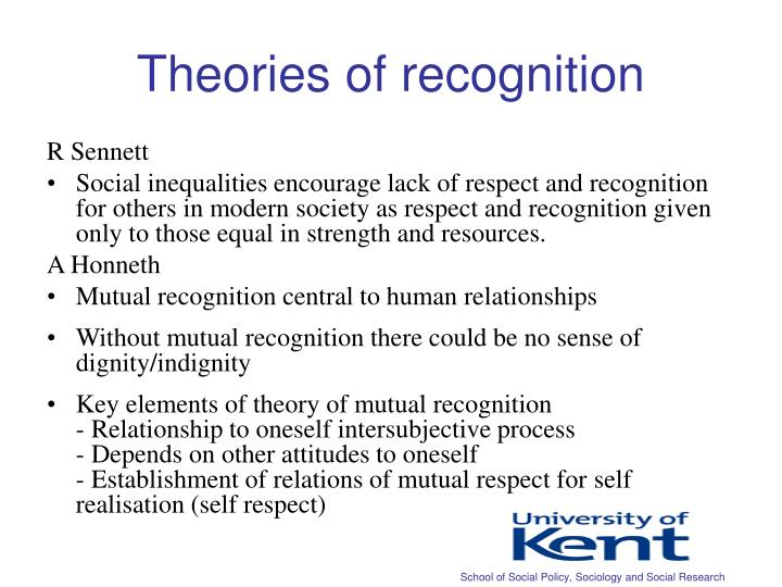 Theories of recognition