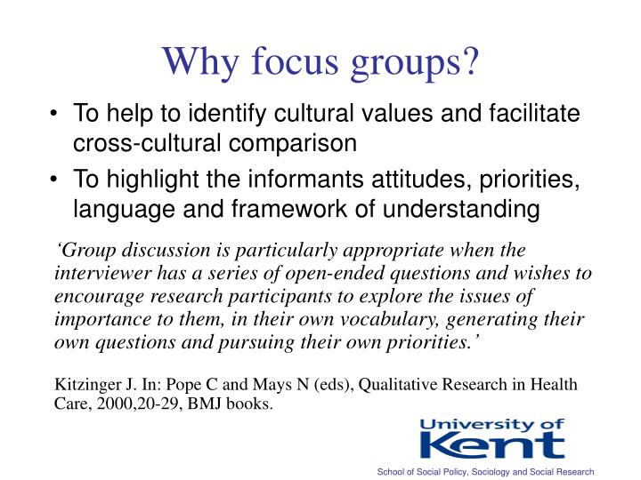 Why focus groups?