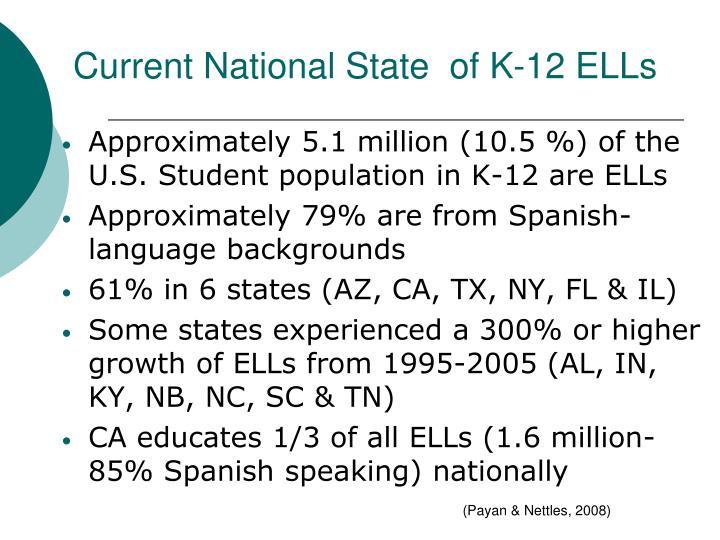 Current National State  of K-12 ELLs