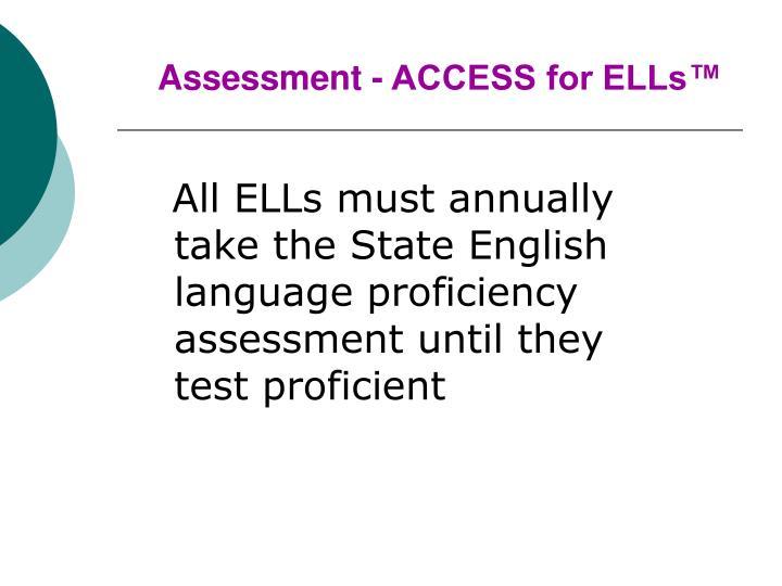 Assessment - ACCESS for ELLs™