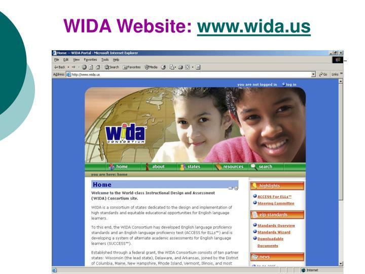 WIDA Website: