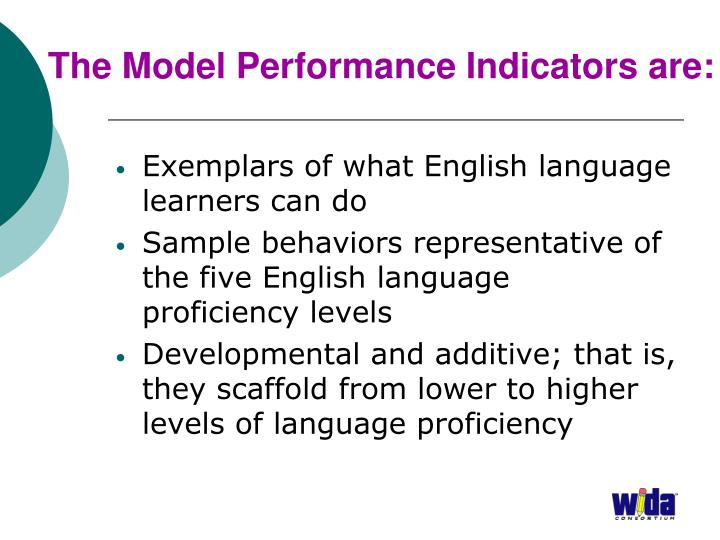 The Model Performance Indicators are: