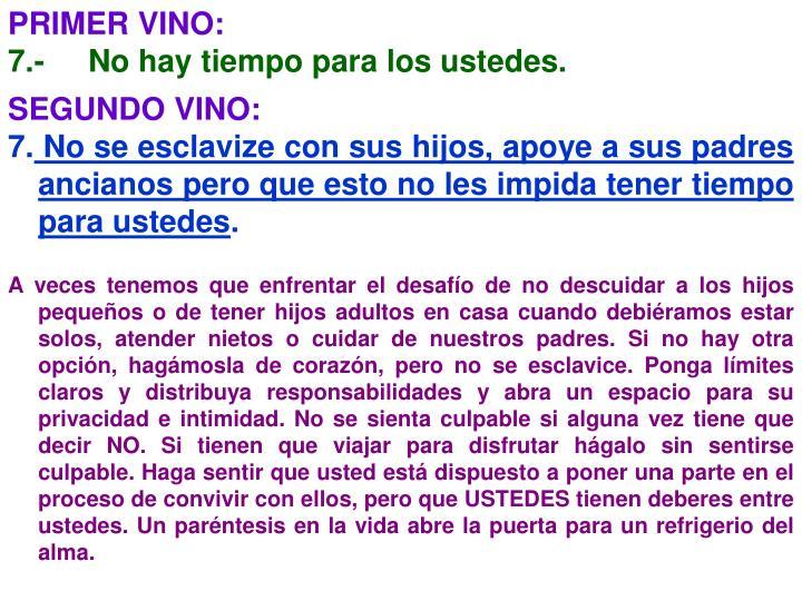 PRIMER VINO: