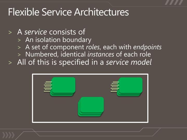 Flexible Service Architectures