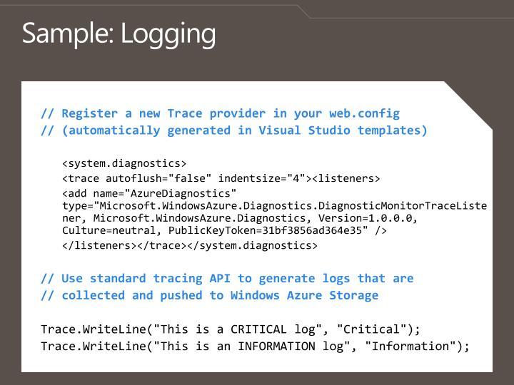 Sample: Logging