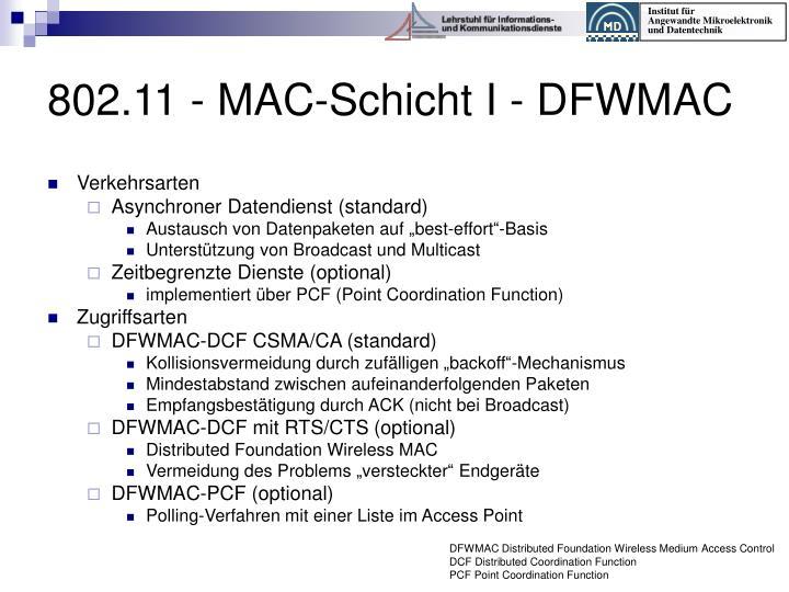 802.11 - MAC-Schicht I - DFWMAC